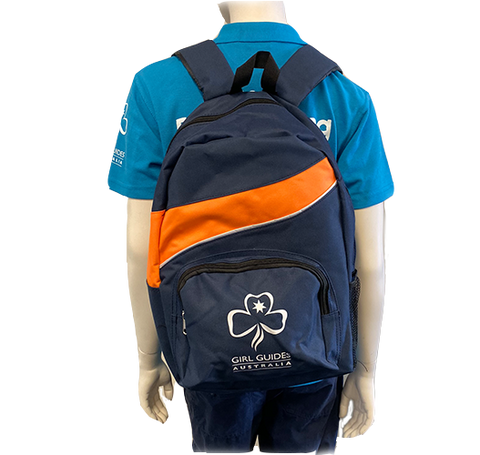 Girl Guides Backpack - Navy and Orange