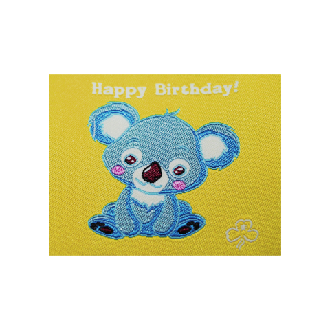 Happy Birthday Cloth Badge - Koala