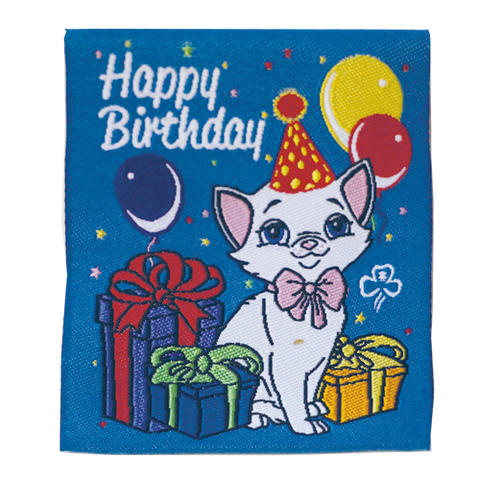Happy Birthday Kitten Badge