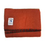 Wool blend Camp Blanket - Orange