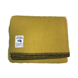 Wool Blend Camp Blanket - Yellow