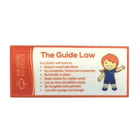 Guide Law Cloth Bookmark - Guides Queensland Guide Supplies
