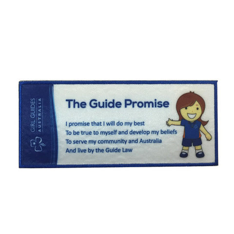 Guide Promise Cloth Bookmark - Guides Queensland Guide Supplies