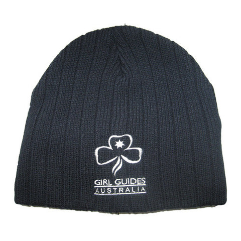 Beanie Cable Knit Girl Guides - Guides Queensland Guide Supplies