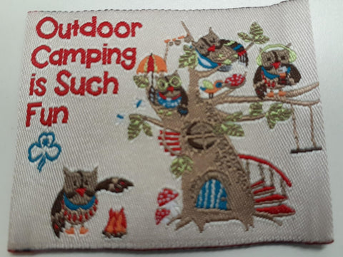 Outdoor Camping is Such Fun Cloth Badge