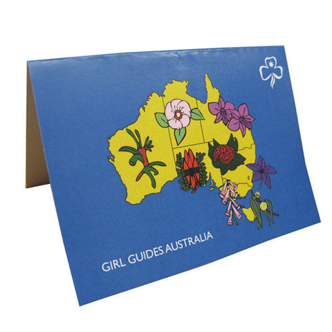 Card Australian Floral Emblem - Guides Queensland Guide Supplies - 1