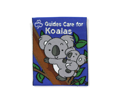 Guides Care for Koalas Cloth Badge - Guides Queensland Guide Supplies