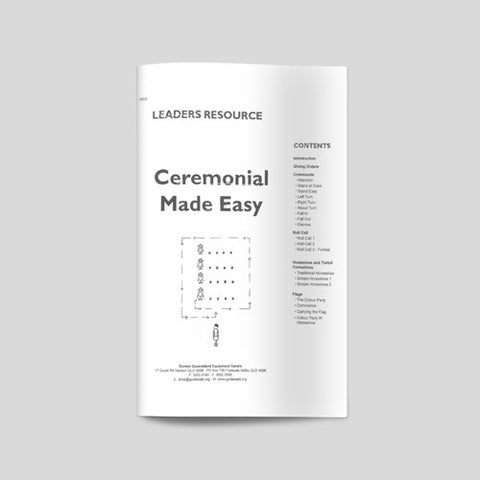 Ceremonial Made Easy - Guides Queensland Guide Supplies - 1