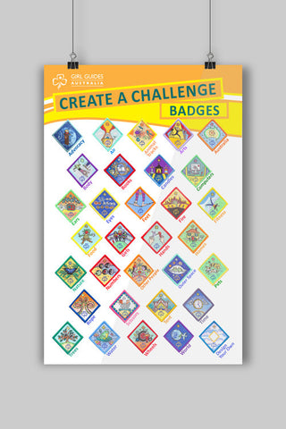 A3 Create a Challenge Poster - Guides Queensland Guide Supplies