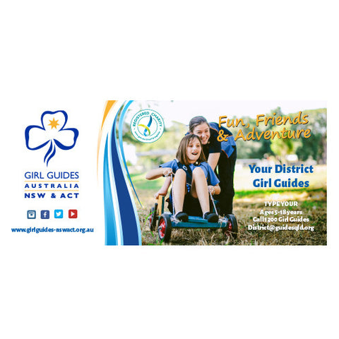 Large Girl Guides Canvas Banner - Design 2