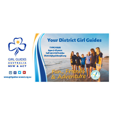 Large Girl Guides Canvas Banner - Design 3