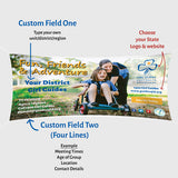 Small Girl Guides Canvas Banner - Design 3