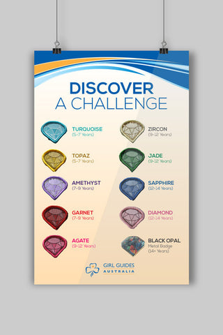 A3 Discover a Challenge Poster - Guides Queensland Guide Supplies