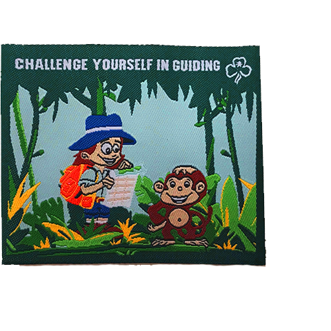 Challenge Yourself In Guiding Cloth Badge - Dora