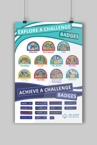 A3 Explore and Achieve a Challenge Poster - Guides Queensland Guide Supplies
