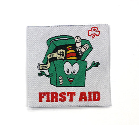 First Aid Medical Box Cloth Badge - Guides Queensland Guide Supplies