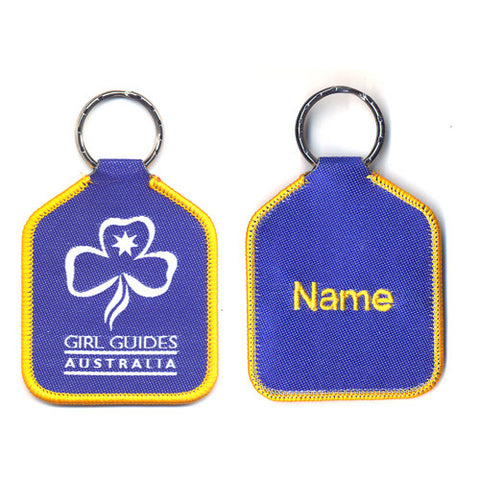 Woven Girl Guides Australia Bag Tag - Guides Queensland Guide Supplies