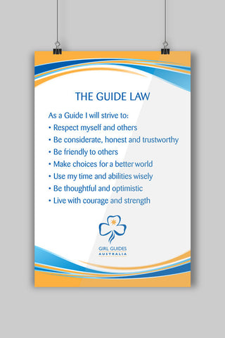 A3 Guide Laws Poster - Guides Queensland Guide Supplies