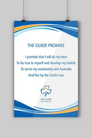 A3 Promise Poster - Guides Queensland Guide Supplies