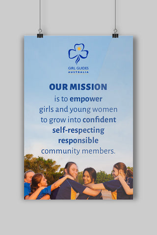 A3 Mission Statement Poster - Guides Queensland Guide Supplies