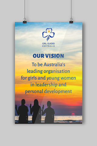 A3 Vision Statement Poster - Guides Queensland Guide Supplies