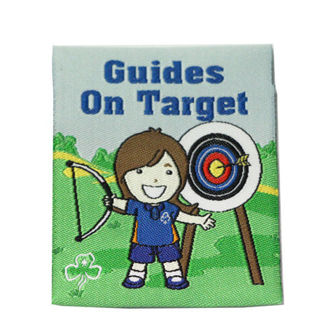 Guides On Target Cloth Badge