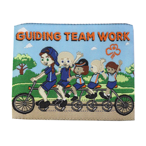 Guiding Team Work Cloth Badge