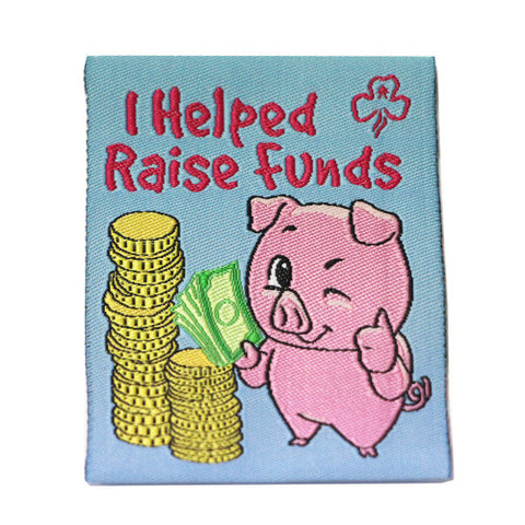 I Helped Raise Funds Cloth Badge