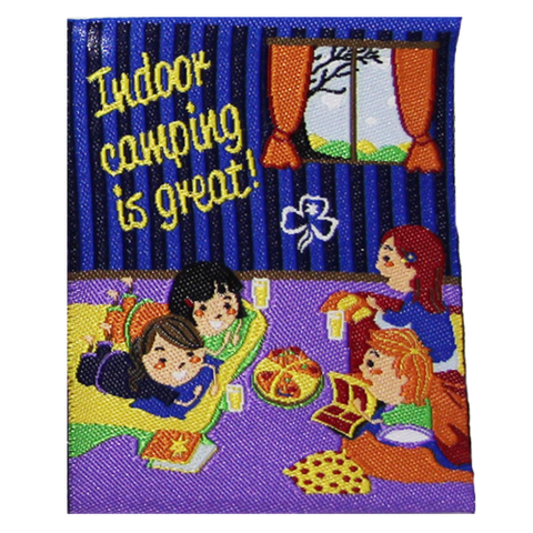 Indoor Camping is Great Cloth Badge
