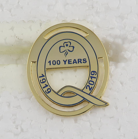 Girl Guides Qld Centenary Metal Badge