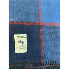 Wool Blend Camp Blanket - Royal/Navy Check