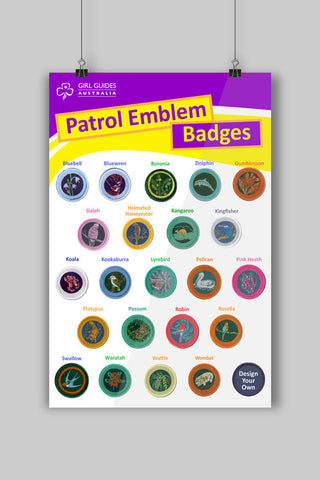 A3 Patrol Emblems Poster - Guides Queensland Guide Supplies