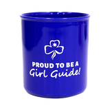 Proud To Be A Girl Guide Plastic Mug - Blue