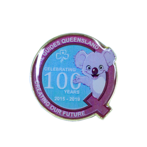 Queensland State Centenary Metal Badge