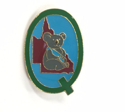 Queensland State Metal Badge - Guides Queensland Guide Supplies
