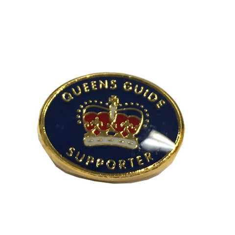 Queens Guide Supporters Metal Badge - Guides Queensland Guide Supplies
