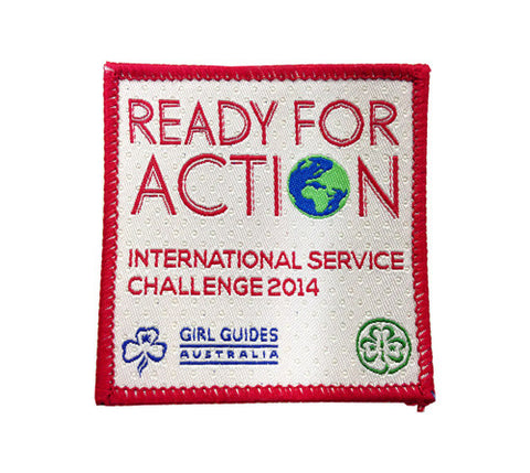 Ready For Action International Challenge Badge - Guides Queensland Guide Supplies