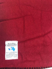 Wool Blend Camp Blanket - Red