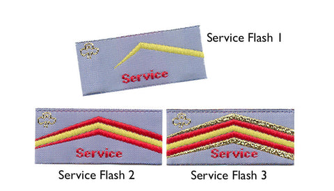 Service Flash Badge - Guides Queensland Guide Supplies - 1