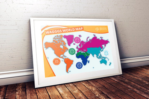 A3 WAGGGS World Map Poster - Guides Queensland Guide Supplies