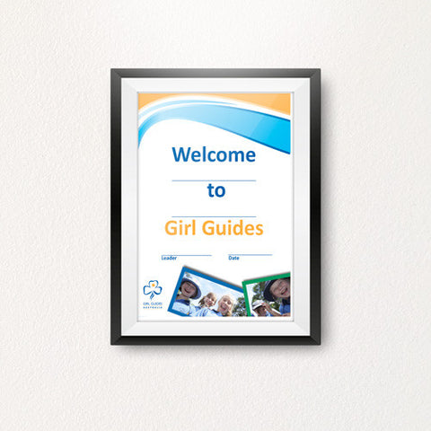 Welcome To Girl Guides Formal Certificate A5