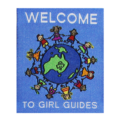 Welcome To Girl Guides Cloth Badge - Blue