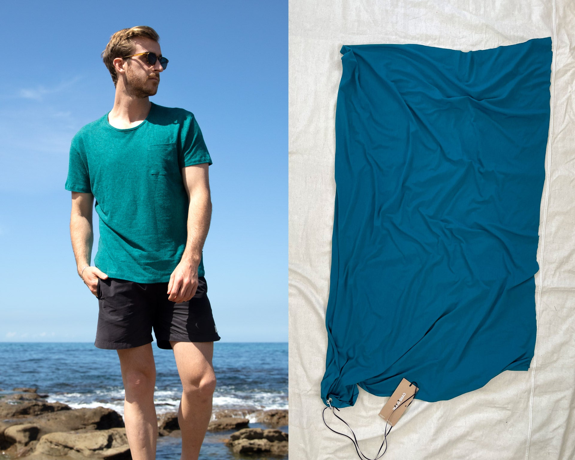Deep Teal Merino Wool –limited edition for summer
