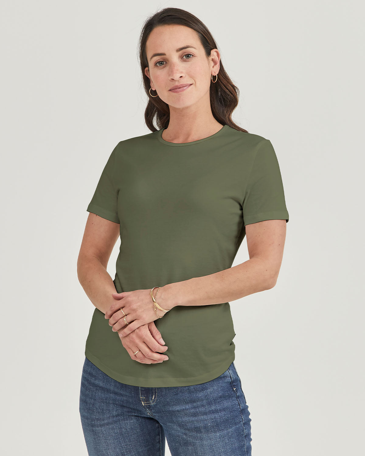 Womens Magic Fit Tees in Cactus Organic Cotton | Citizen Wolf
