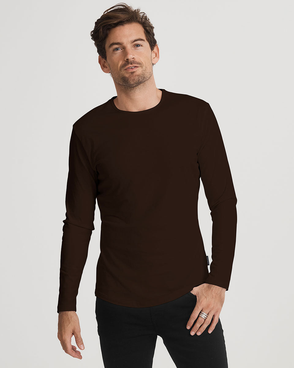 The Mens Long Crew in limited edition Xocolatl Organic Cotton   Citizen Wolf