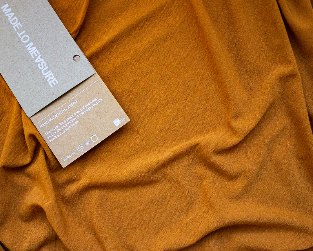 Citizen Wolf | T-shirts made to measure with Magic Fit®️ in Deep Saffron