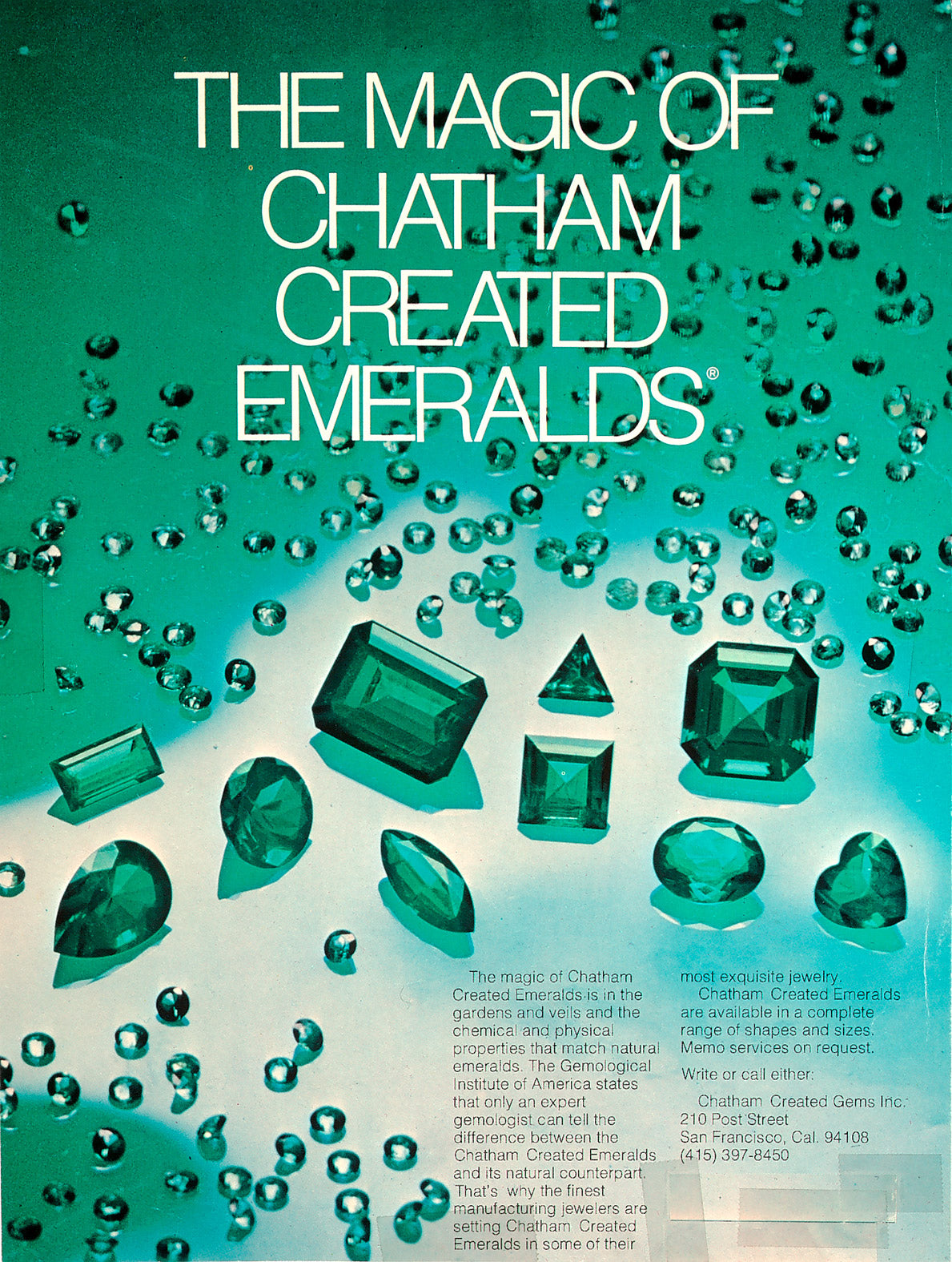 Citizen Wolf | Chatham synthetic emeralds were wildly popular