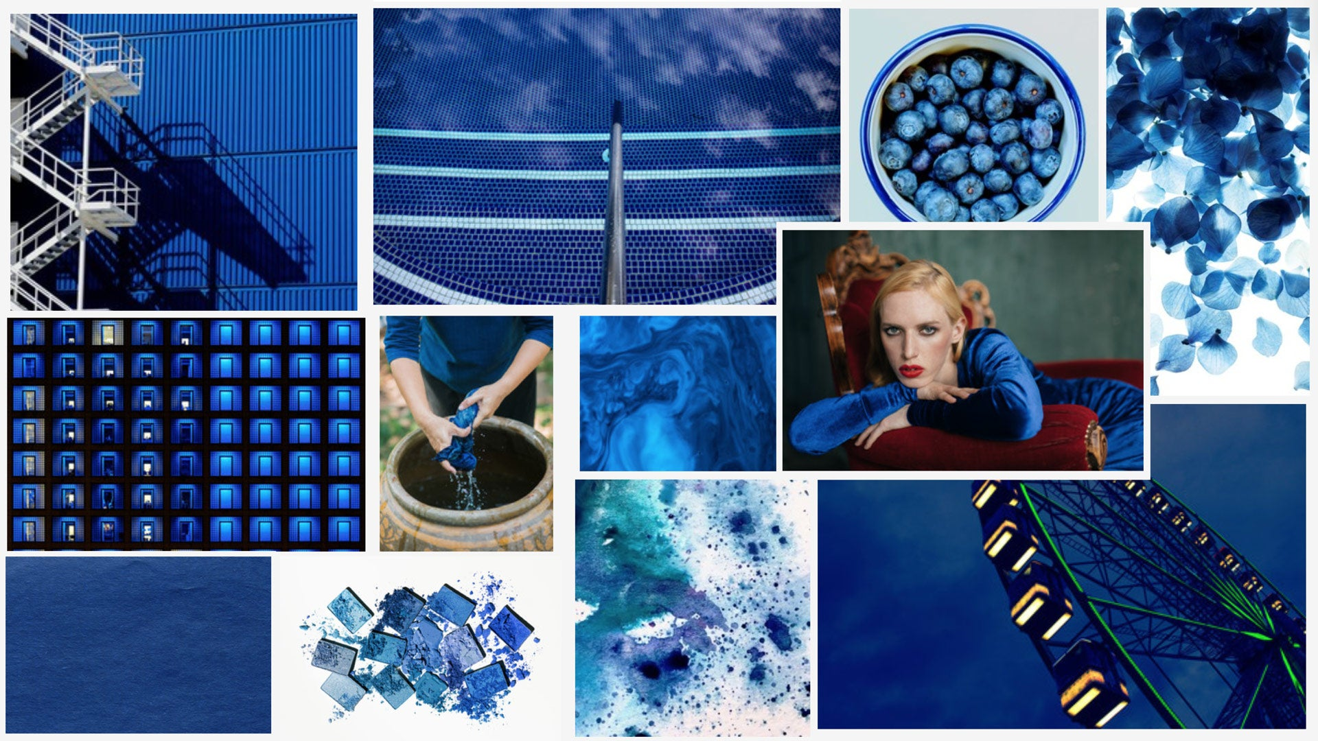 Pantone Colour of the Year 2020 'Classic Blue' moodboard
