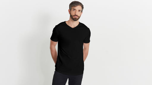 The Short V in Organic Cotton 180GSM, Black