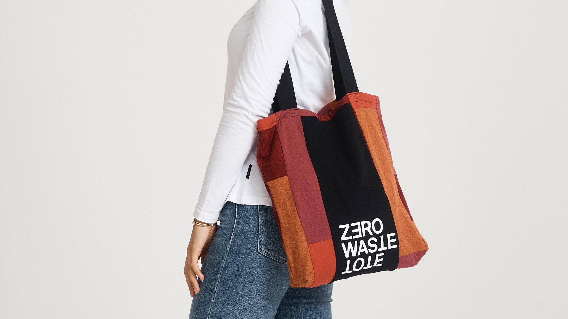 Zero Waste Tote in 'Mostly Red' by Citizen Wolf